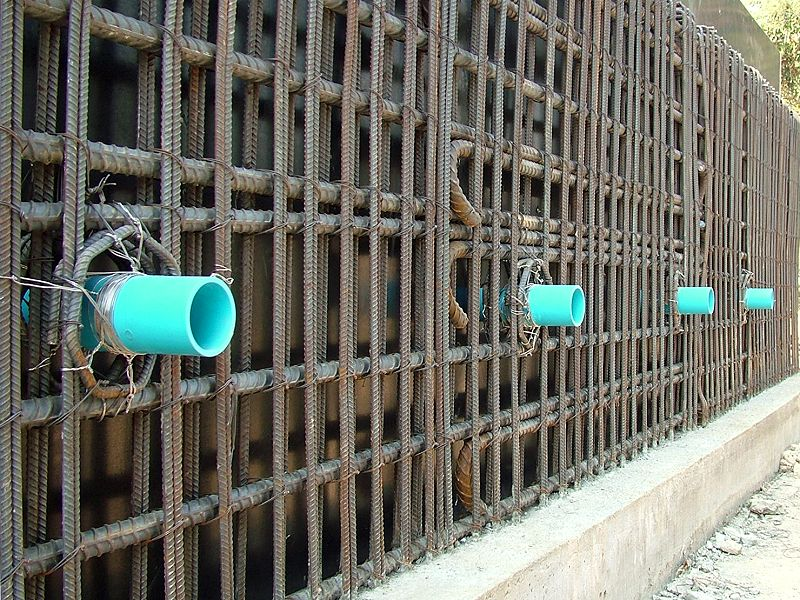 Swimming Pool Reinforcement : Ping view swimming pool inlets and rebar