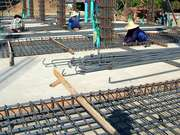 Placing The Rebar For The Floor