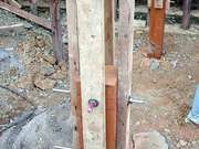 Wooden Tower Lift Foundations