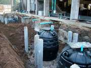 Four Septic Tanks In Place