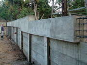 The Right Hand Side Retaining Wall