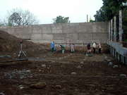 The Rear Retaining Wall And Shear Wall And The Swimming Pool Pile Heads