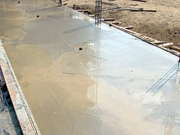 The Swimming Pool Deck Poured