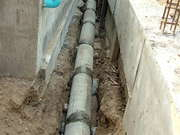 Storm Drains Between The Swimming Pool And The Right Hand Retaining Wall