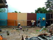 The Rear Wall Used As A Colour Workshop