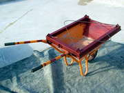 Wheel Barrow Customised To Carry Cement And Be Hoisted