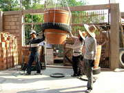 Lifting A Large Flower Pot Tray