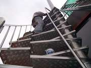 Cleaning The Roof Garden Spiral Staircase