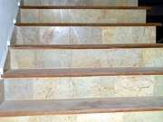 Stairs Finished In Teak And Marble