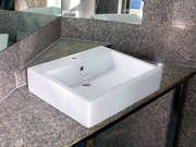 Sink On A Granite Corner Counter