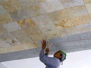 Putting Marble On The Reception Suite Ceiling