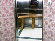 Lift Interior With Corner Bench